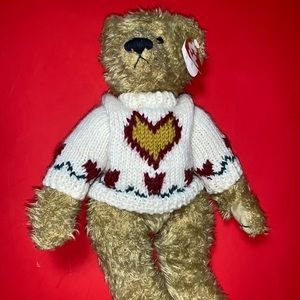 Ty Beanie Baby Bear Heartly Love Conquers All